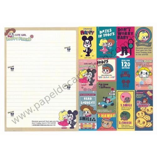 Papel de Carta AVULSO Happy Friend - Art-Box Korea