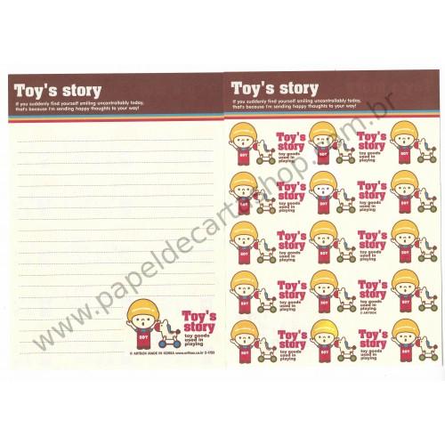 Papel de Carta AVULSO Toy's Story - Art-Box Korea