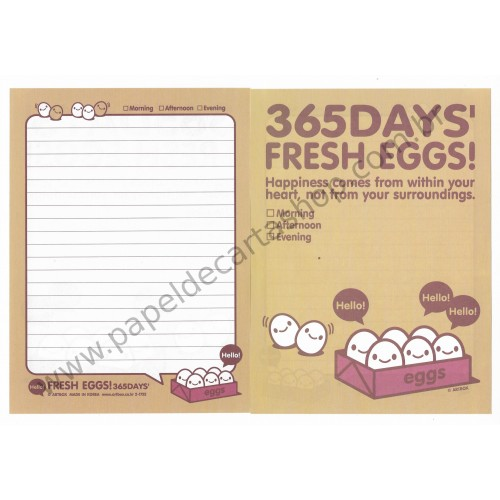 Papel de Carta AVULSO Fresh Eggs - Art-Box Korea