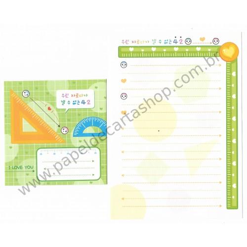 Kit 6 Conjuntos de Papel de Carta Importado OWL - Letter Korea