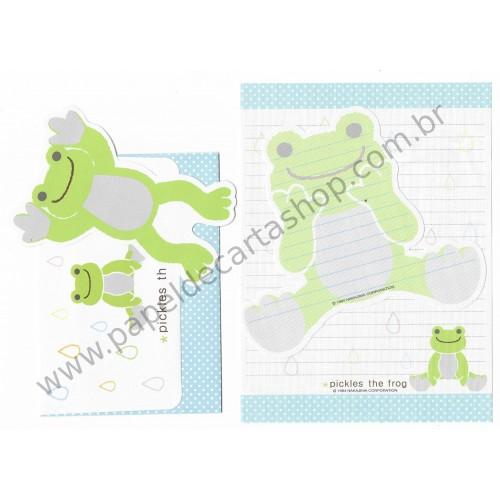 Conjunto de Papel de Carta Importado Pickles The Frog - Nakajima Corporation