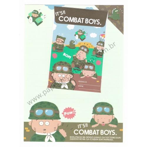 Conjunto de Papel de Carta Antigo (Vintage) Combat Boys Japan