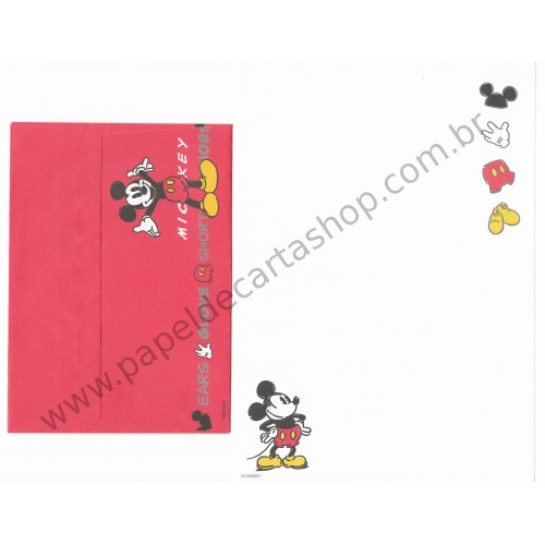Conjunto de Papel de Carta Disney Mickey Mouse (BRA3)