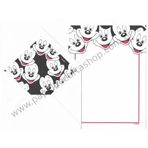 Conjunto de Papel de Carta Antigo Importado Disney Mickey Mouse (BRA4)