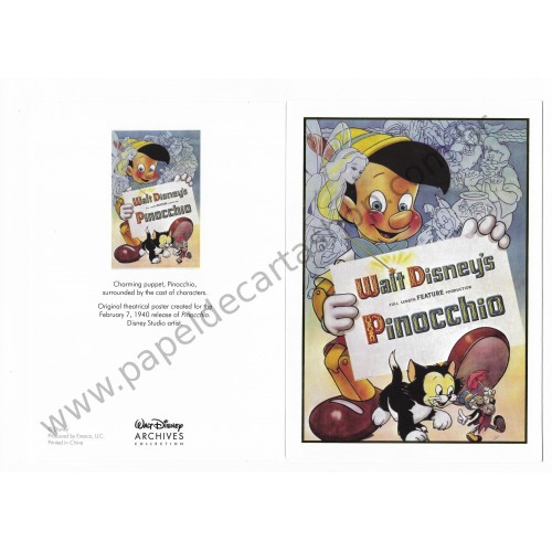 Coleção Disney Archives Pinocchio: 10 Collectible Notecards
