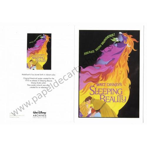 Coleção 10 NOTECARDS CARTÕES Disney Archives Sleeping Beauty