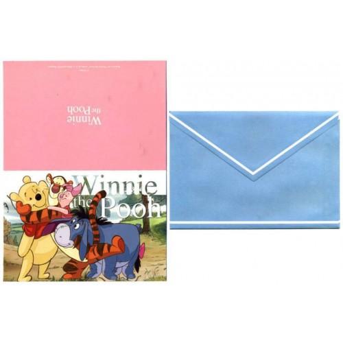 Coleção 6 NOTECARDS CARTÕES Disney Winnie the POOH