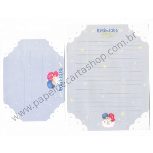 Ano 1998. Conjunto de Papel de Carta Little Twin Stars K&L Sanrio
