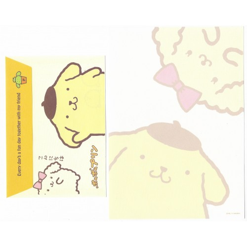 Ano 2011. Conjunto de Papel de Carta Pompompurin CMA3 Sanrio