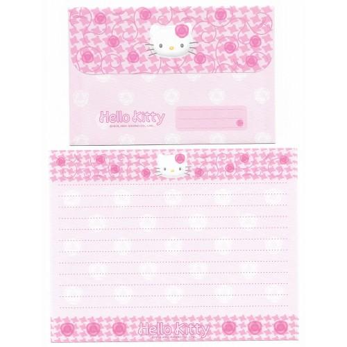 Ano 2001. Conjunto de Papel de Carta Hello Kitty Roses CRS Sanrio