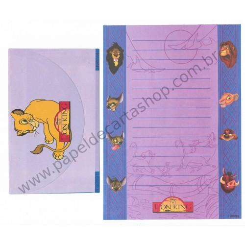 Conjunto de Papel de Carta ANTIGO Personagens Disney The LION KING