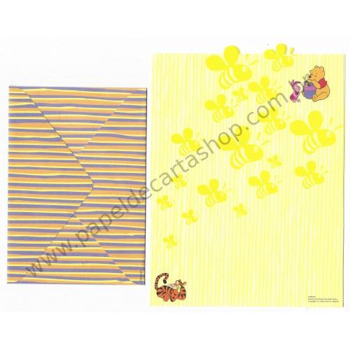 Conjunto de Papel de Carta Disney Winnie The Pooh Bee CAM - Disney