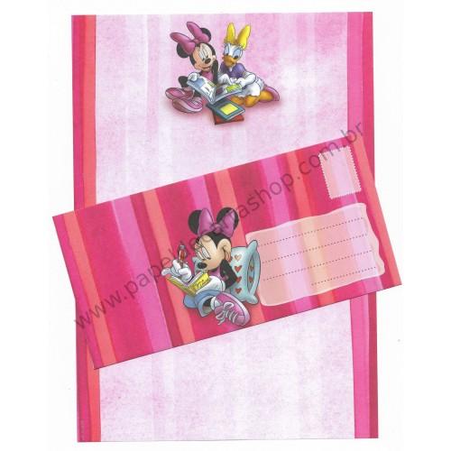 Conjunto de Papel de Carta Antigo Vintage Disney Minnie Mouse (VM) - Creative Words