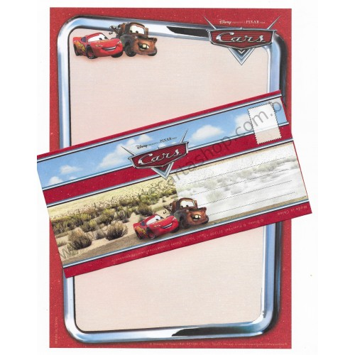Conjunto de Papel de Carta Antigo Vintage Disney Pixar Cars (VM) - Creative Words