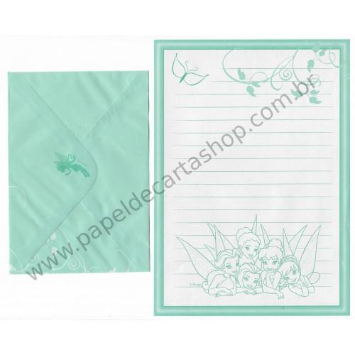Conjunto de Papel de Carta VINTAGE Disney - Fairies