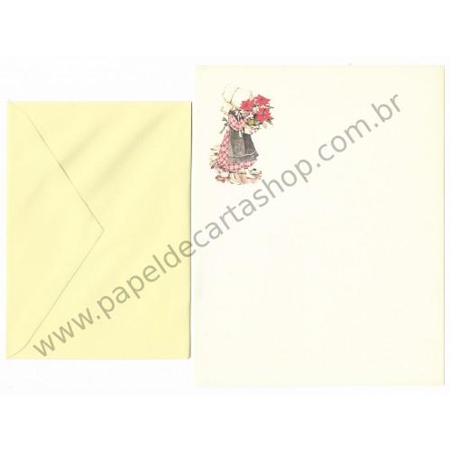 Conjunto de Papel de Carta ANTIGO Holly Hobbie M64