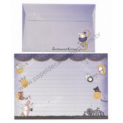 Kit 4 Conjuntos de Papel de Carta Sentimental Circus Mystic Moon SanX