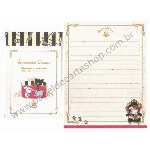 Kit 4 Conjuntos de Papel de Carta Sentimental Circus - San-X Japan