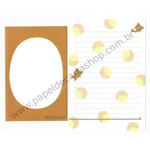Conjunto de Papel de Carta Importado Rilakkuma CMR - San-X