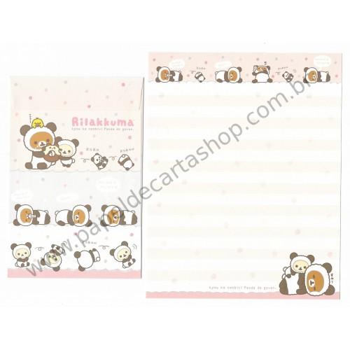 Kit 4 Conjuntos de Papel de Carta Rilakkuma Munya Munya - San-X