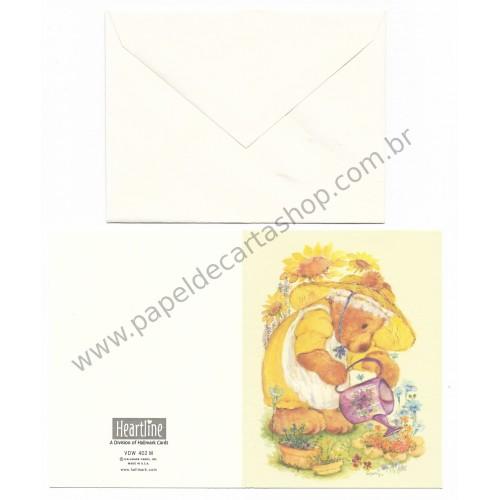 Notecard Antigo Importado Mary Hamilton BEAR - Hallmark