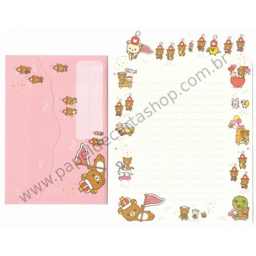 Conjunto de Papel de Carta Importado Rilakkuma Wonderland 10th Anniversary 3 - San-X