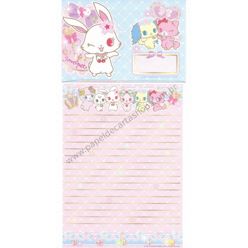 Ano 2013. Conjunto de Papel de Carta Jewelpet CAZ Sanrio/ SEGA TOYS