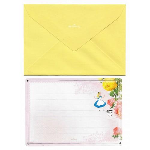 Conjunto de Papel de Carta Disney Alice - NIHON Hallmark JP