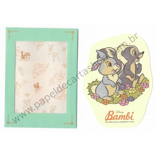 Conjunto de Papel de Carta Disney Bambi P Sun-Star (CVD)