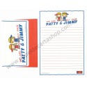 Ano 2010. Conjunto de Papel de Carta Patty & Jimmy Sanrio