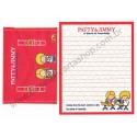 Ano 2011. Kit 4 Conjuntos de Papel de Carta Paty & Jimmy Sanrio