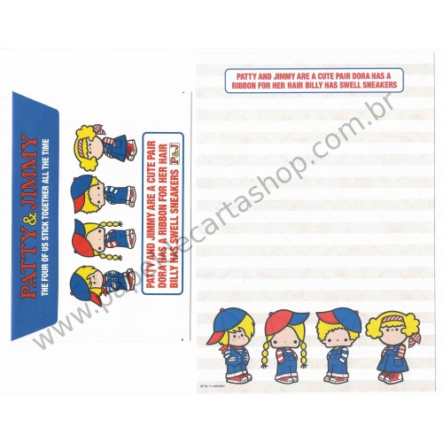 Ano 2011. Conjunto de Papel de Carta Patty & Jimmy FV2 Sanrio