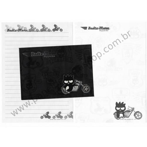 Ano 2001. Conjunto de Papel de Carta Badtz-Maru King of The Road Sanrio