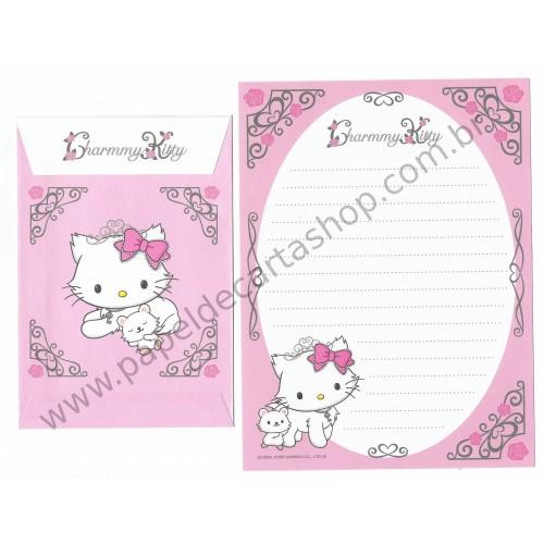 Ano 2005. Conjunto de Papel de Carta Charmmy Kitty CRB Sanrio