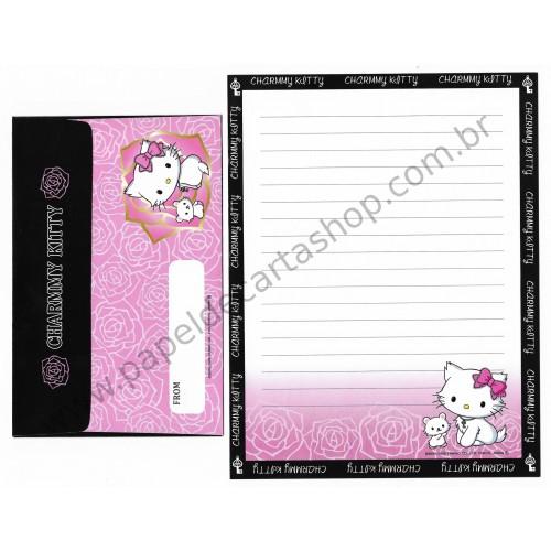 Ano 2005. Conjunto de Papel de Carta Charmmy Kitty BLR II Sanrio