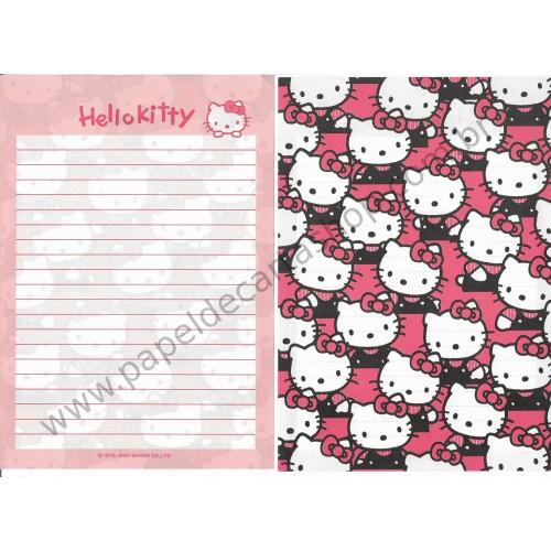 Ano 1990. Conjunto de Papel de Carta Hello Kitty Vintage Sanrio
