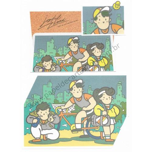 Conjunto de Papel de Carta Sanrio (Vintage)
