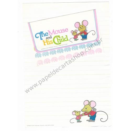 Ano 1976. Conjunto de Papel de Carta The Mouse and His Child Sanrio