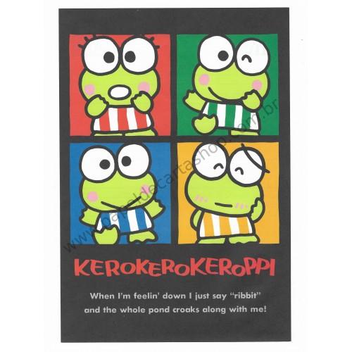 Ano 1989. Conjunto de Papel de Carta Keroppi CBK Vintage Sanrio