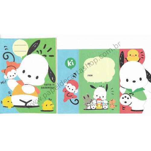 Ano 1995. Conjunto de Papel de Carta Pochacco Ki Vintage Sanrio