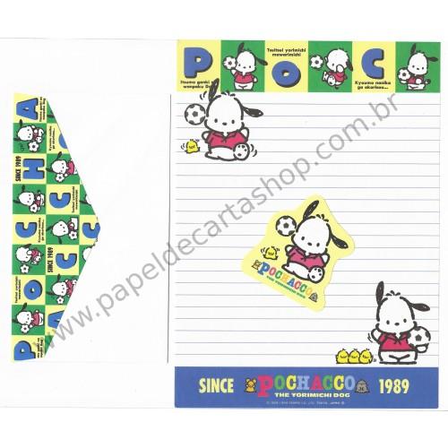 Ano 1994 Conjunto de Papel de Carta Pochacco Since 1989 Vintage Sanrio