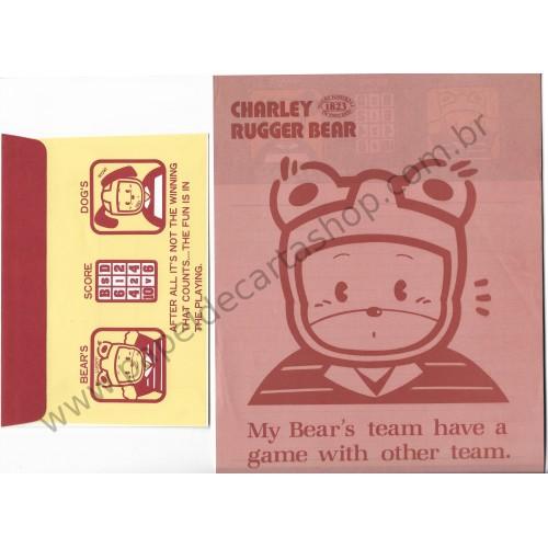 Conjunto de Papel de Carta Antigo (Vintage) Charley Bear - Japan