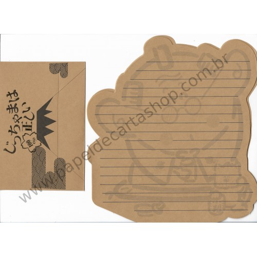 Conjunto de Papel de Carta Antigo (Vintage) 100% Japan