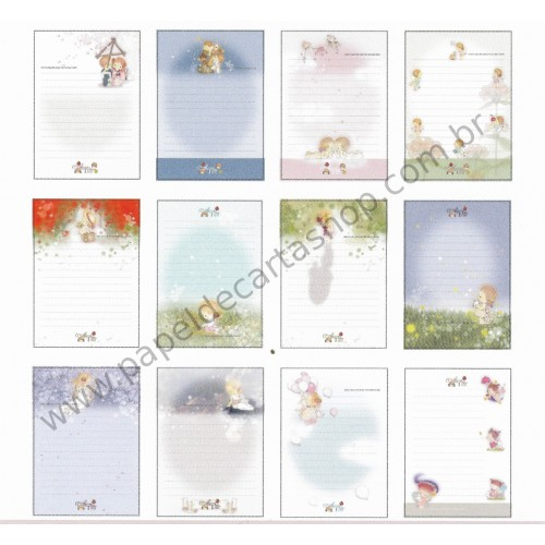 Lote de Papel de Carta com Envelopes Importado AMY & TIM 02