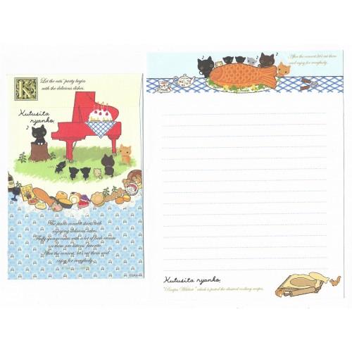 Conjunto de Papel de Carta Importado Kutusita Nyanko Recipes 4 - San-X Japan