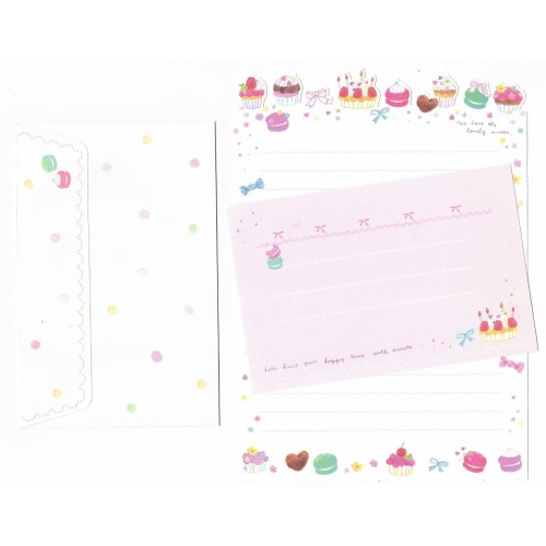 Conjunto de Papel de Carta Importado Palette Sweets - San-X