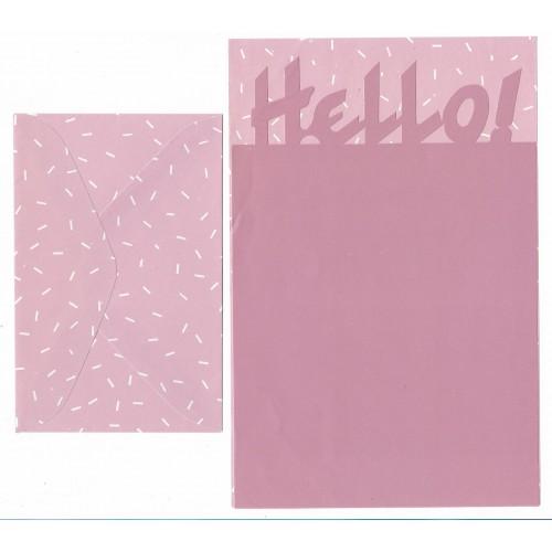 Conjunto de Papel de Carta Antigo Artefinal Hello (CLL)