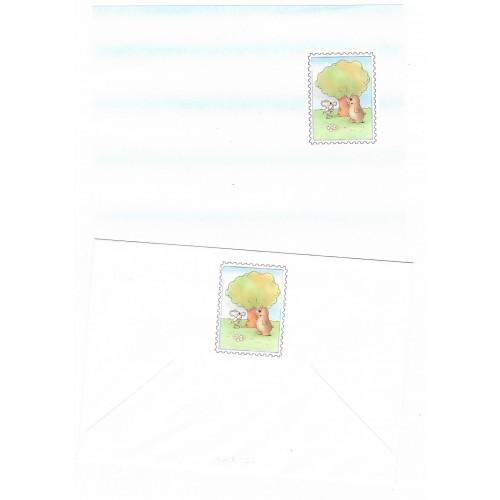Conjunto de Papel de Carta Antigo Coleção Kartos - Mouse
