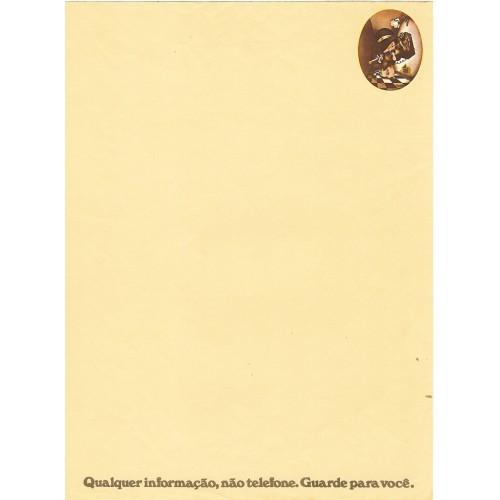 Papel de Carta AVULSO Coleção Os Intocáveis Bandidinho G4