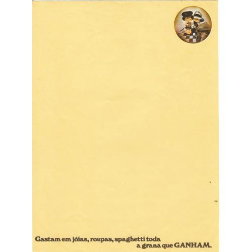Papel de Carta AVULSO Coleção Os Intocáveis Bandidinho G5